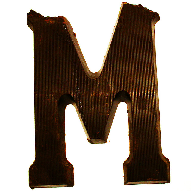 chocoladeletters mmmm slimmekleuters