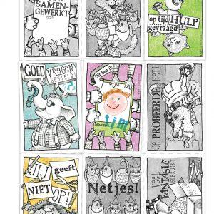illustratie verzamelblad met kind tekening klein